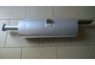 EXHAUST MUFFLERS WITH STAINLESS ENDS - PAIR