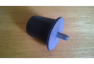 Rear shock absorber rubber stopper